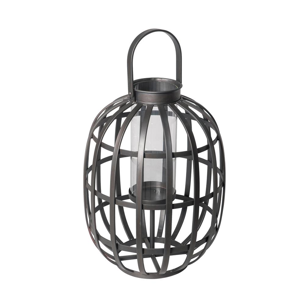 24.8 in. Small Outdoor Patio Metal Lantern