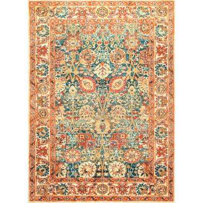 Persian Floral Lorna Beige 5 ft. x 7 ft. 5 in. Area Rug