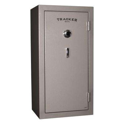 24-Gun Fire-Resistant Combination/Dial Lock Gun Safe, Gray