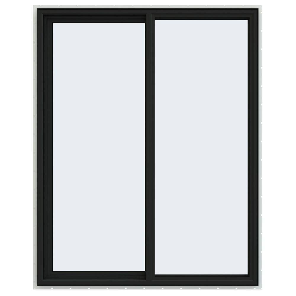 47.5 in. x 59.5 in. V-4500 Series Left-Hand Sliding Vinyl Windows
