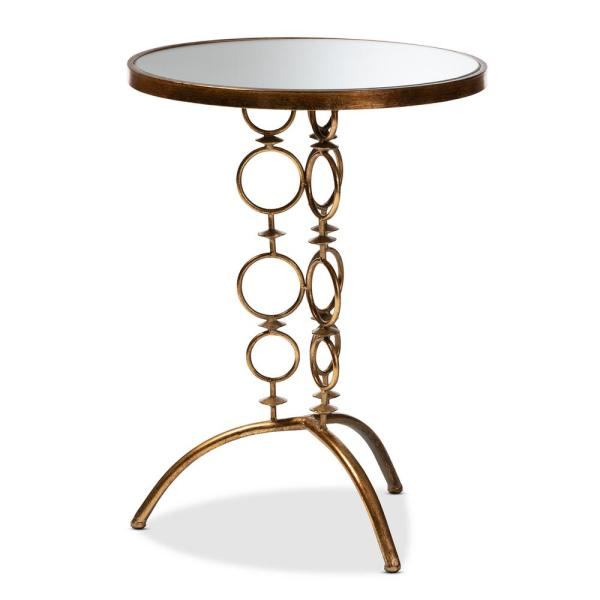 Baxton Studio Issa Antique Gold Accent Table 151-9069-HD