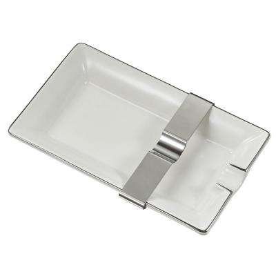 Owen White Ceramic Cigar Ashtray