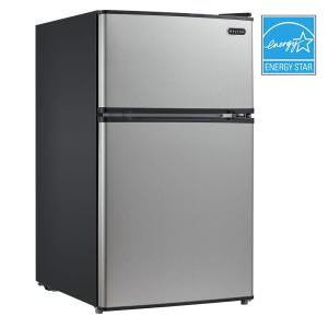 Whynter 3.4 cu. ft. Energy Star Stainless Steel Compact Refrigerator/Freezer in Black by Whynter