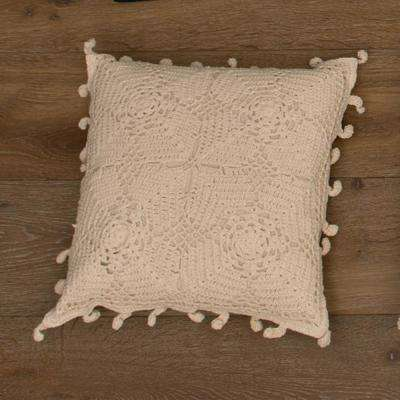 Crochet Envy Natural Artisan Decorative Pillow