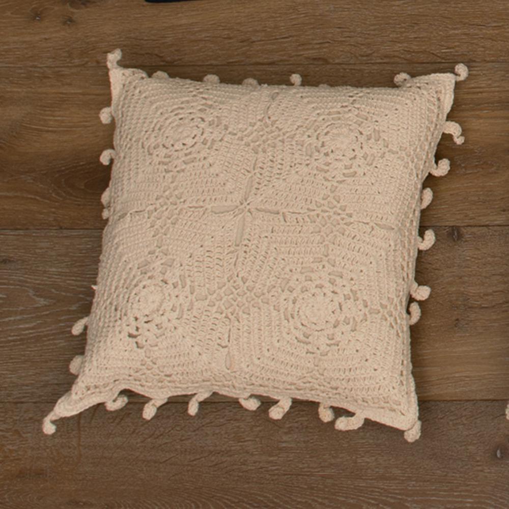 Pillows Decorative Pillows Natural Pillows: Heritage Lace Crochet Envy Natural Artisan Decorative