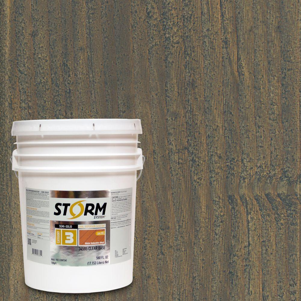 Storm System Category 3 5 gal. Headwall Exterior Semi-Solid Dual Dispersion Wood Finish