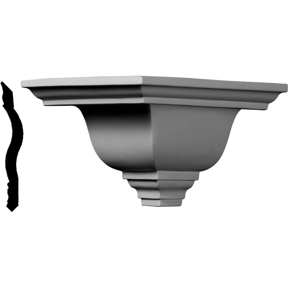 7-1/2 in. x 7-1/2 in. x 5 in. Polyurethane Crown Outside Corner Moulding