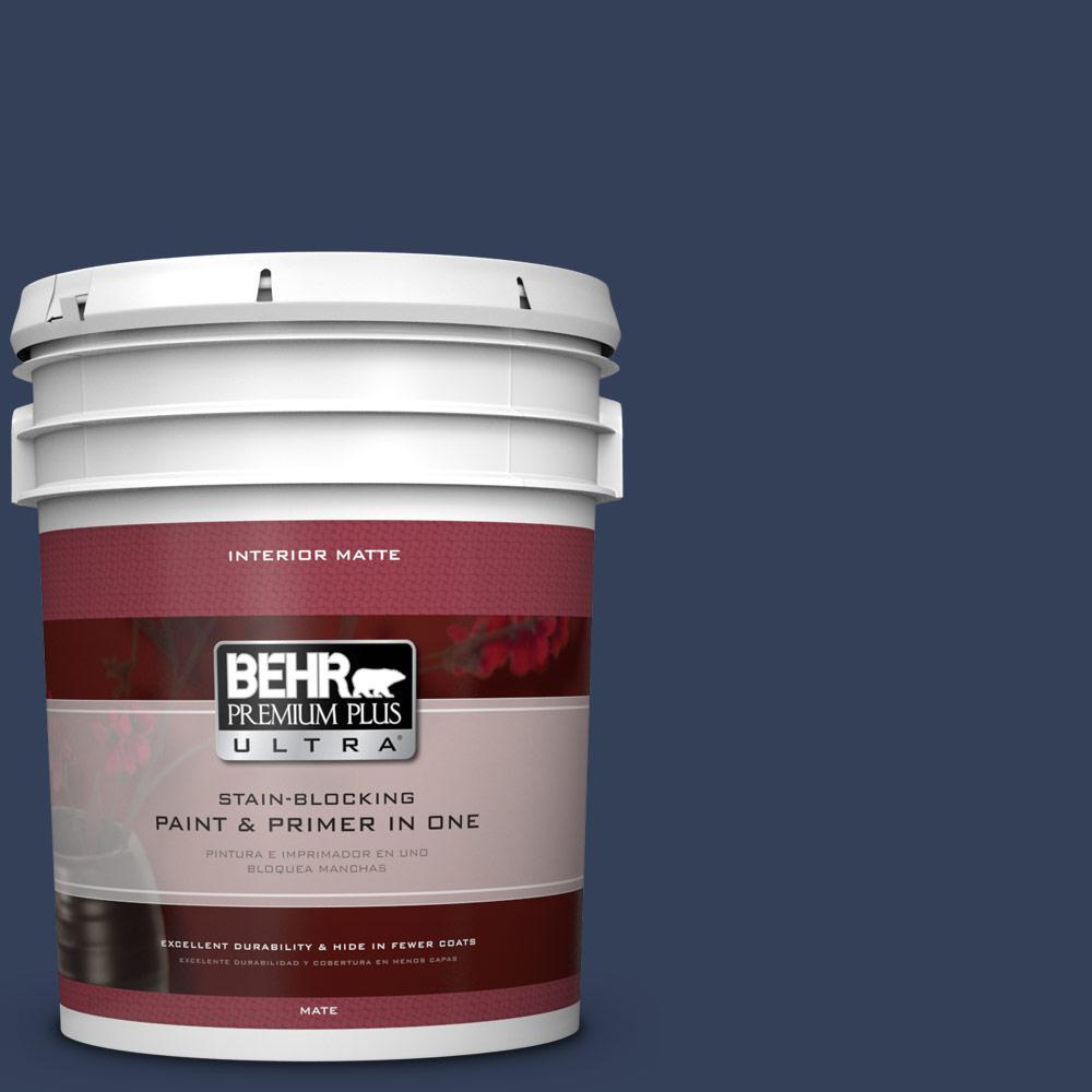 BEHR Premium Plus Ultra 5 gal. #600F-7 Soulful Music Flat/Matte Interior Paint