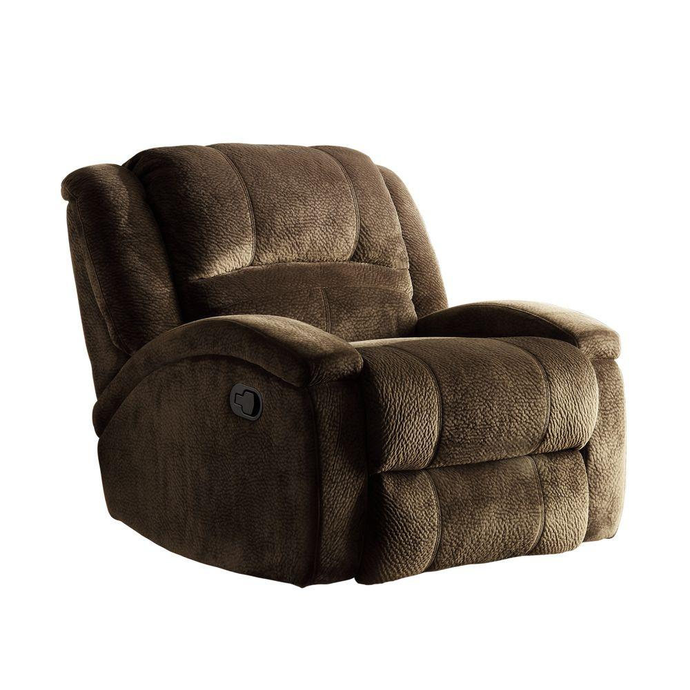 HomeSullivan Thomas Chocolate Microfiber Recliner-DISCONTINUED
