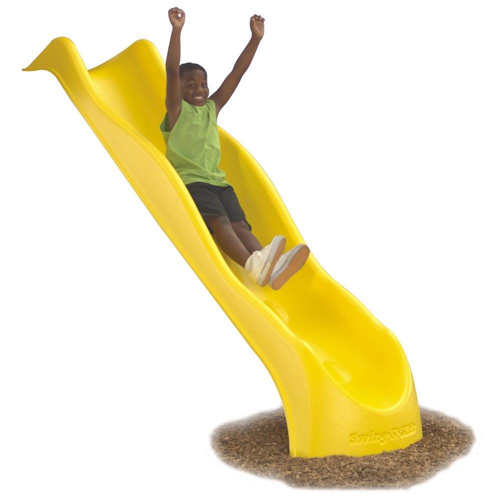 swing-n-slide playsets yellow super speed wave slide-ne 3062