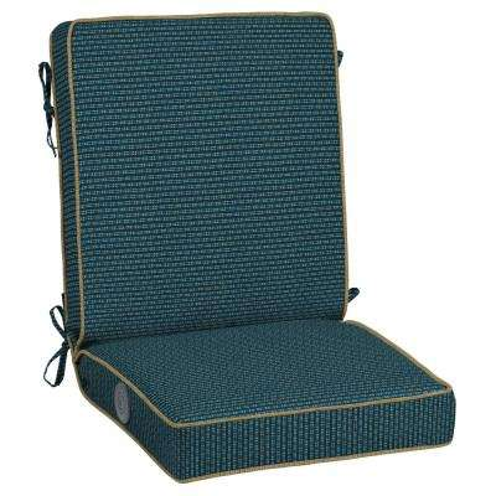 Rhodes Indigo Seas Adjustable Comfort Outdoor Dining Chair Cushion