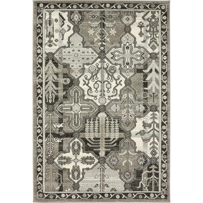 La Jolla Cathedral Gray 4' 0 x 6' 0 Area Rug