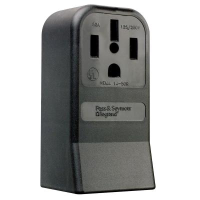 Pass & Seymour 50 Amp 125/250-Volt NEMA 14-50R Surface Mount Power Outlet