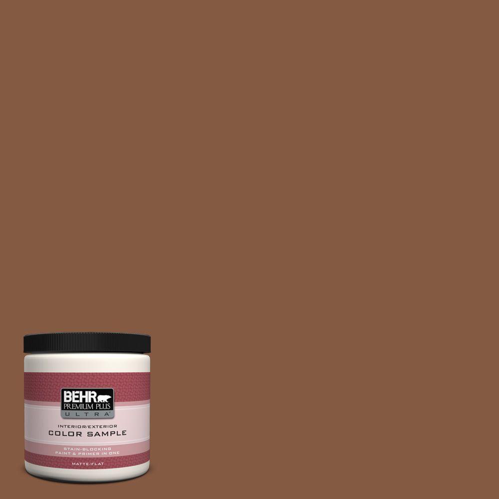 BEHR Premium Plus Ultra 8 oz. #ICC-80 Cinnamon Spice Interior/Exterior Paint Sample