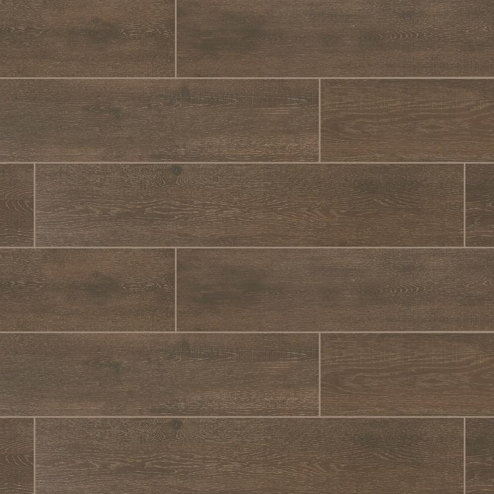 Marazzi Sequoia Forest Rustic Brown 8 In X 40 Porcelain Floor And Wall
