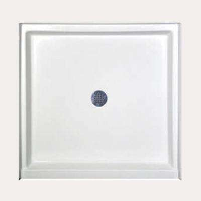 42 in. x 36 in. Single Threshold Shower Base in White