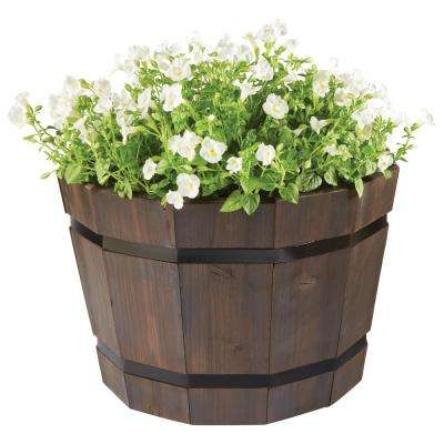 20 in. Dia. Dark Flame Barrel Planter