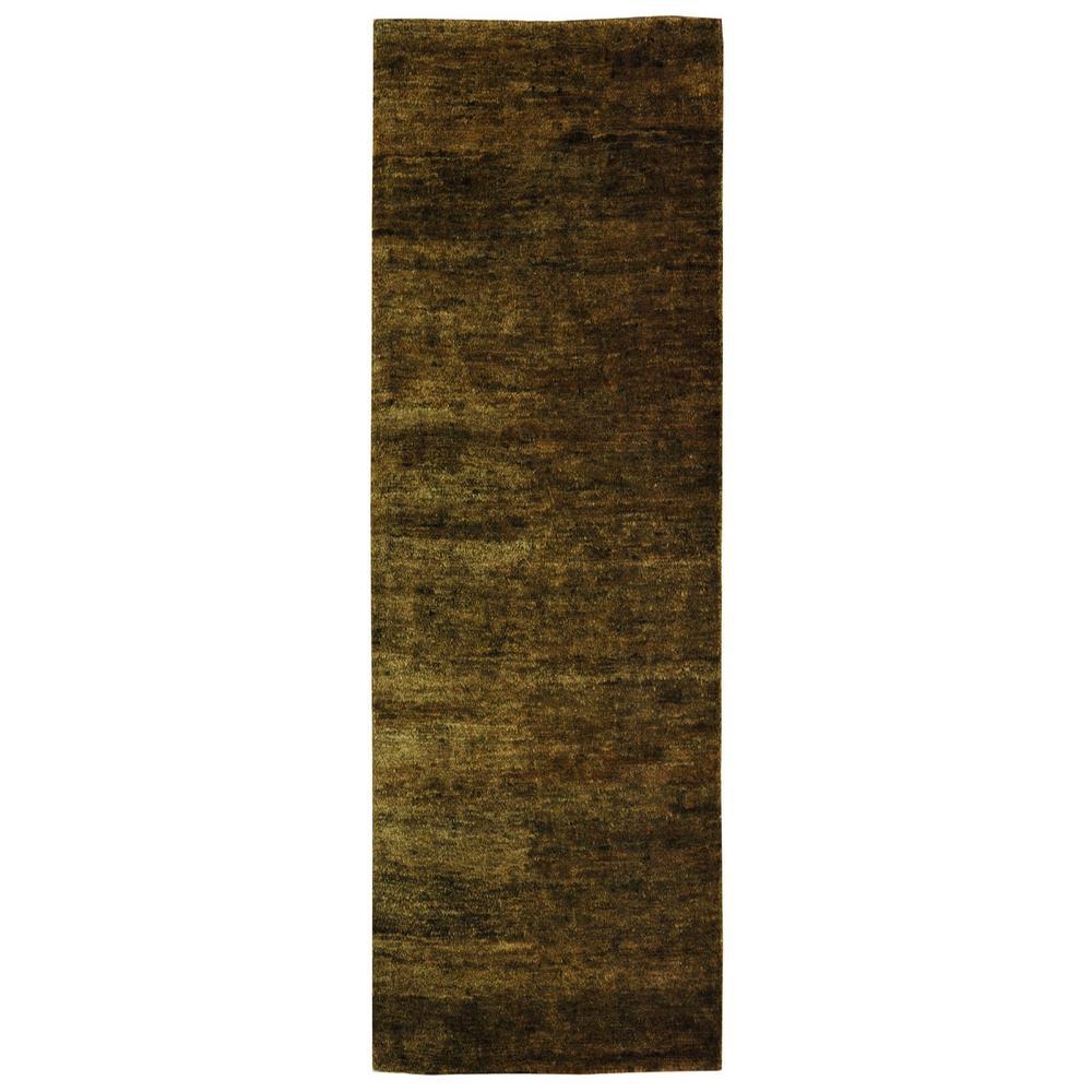 Bohemian Green 3 ft. x 14 ft. Runner Rug