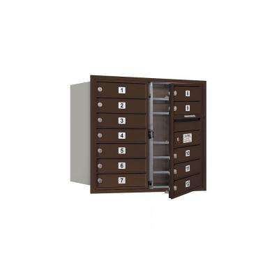 3700 Series 27 in. 7 Door High Unit Bronze Private Front Loading 4C Horizontal Mailbox with 12 MB1 Doors