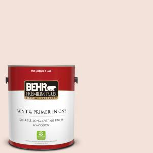 Behr Premium Plus 1 Gal Rd W12 Soft Sunrise Flat Low Odor Interior Paint And Primer In One 105001 The Home Depot