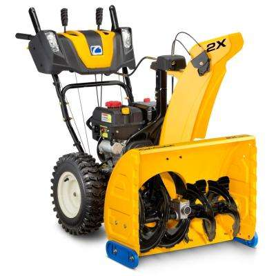 2X 26 in. 243cc 2-Stage Electric Start Gas Snow Blower with Power Steering and Steel Chute