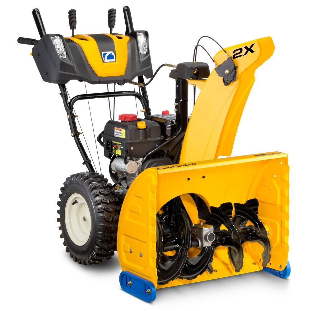 Cub Cadet 2X 26 in. 243 cc Two-Stage Gas Snow Blower with Electric Start, Power Steering and Steel Chute