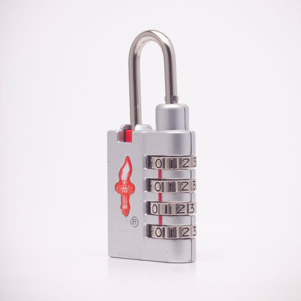 Safe Skies Global 4 Dial TSA Combination Lock in Cool Silver-DISCONTINUED