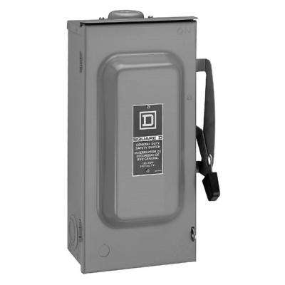100 Amp 240-Volt 2-Pole 3-Phase Fused Outdoor General Duty Safety Switch