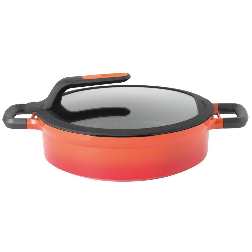 GEM 4.9 Qt. Cast Aluminum Non-Stick Covered 2-Handle Saute Pan