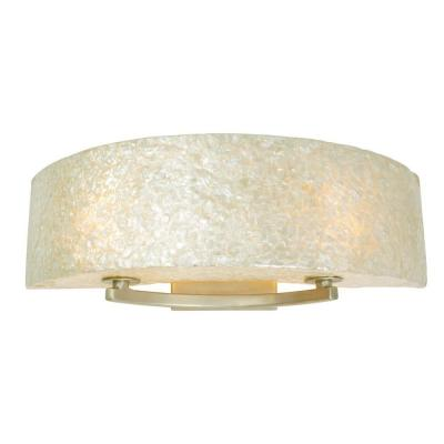 Radius 2-Light Gold Dust Bath Vanity Light with Crushed Natural Capiz