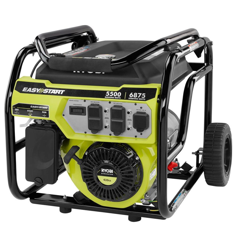 Ryobi 5 500 watt gasoline powered portable generator for 5500 3