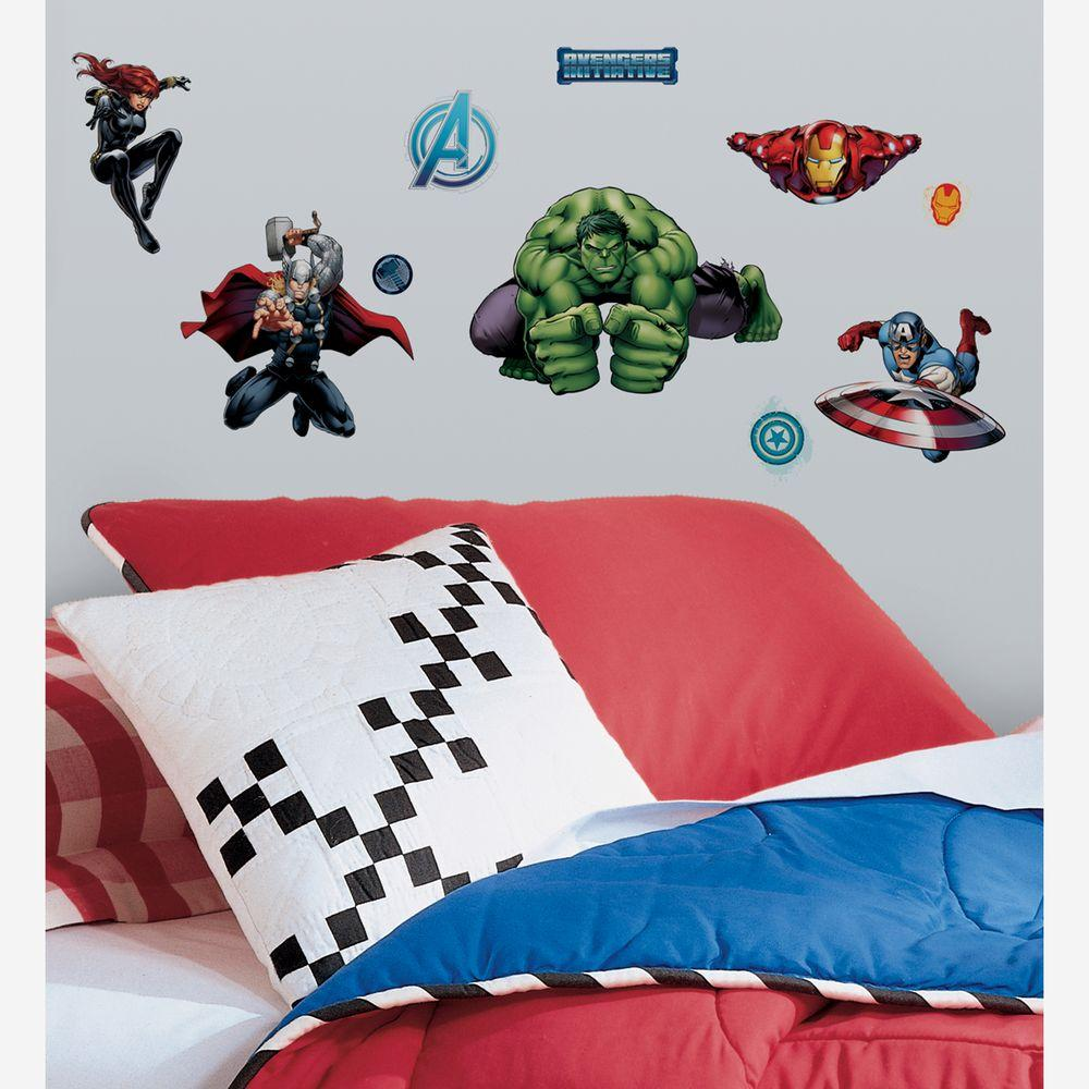 Avenger Assemble Peel And Stick 28 Piece Wall Decals RMK2242SCS   The Home  Depot
