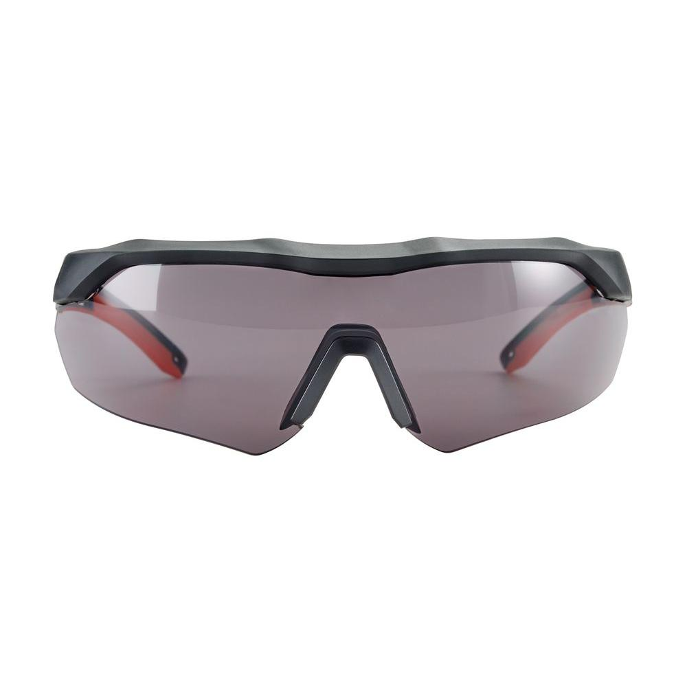 Black with Red Accent Frame and Gray Anti-Fog Lens Performance Safety