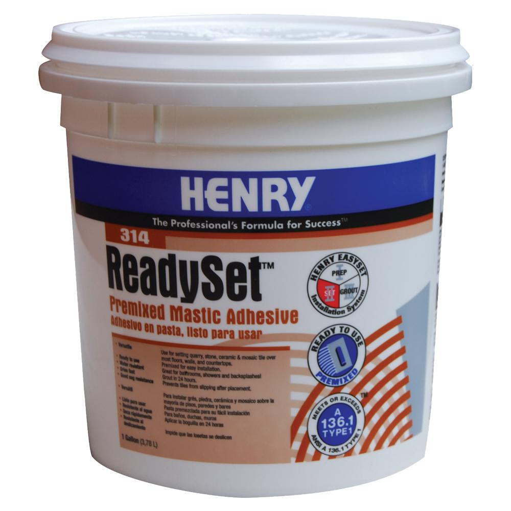 Henry 314 Ready Set Gallon Premixed Mastic Adhesive 12256 The