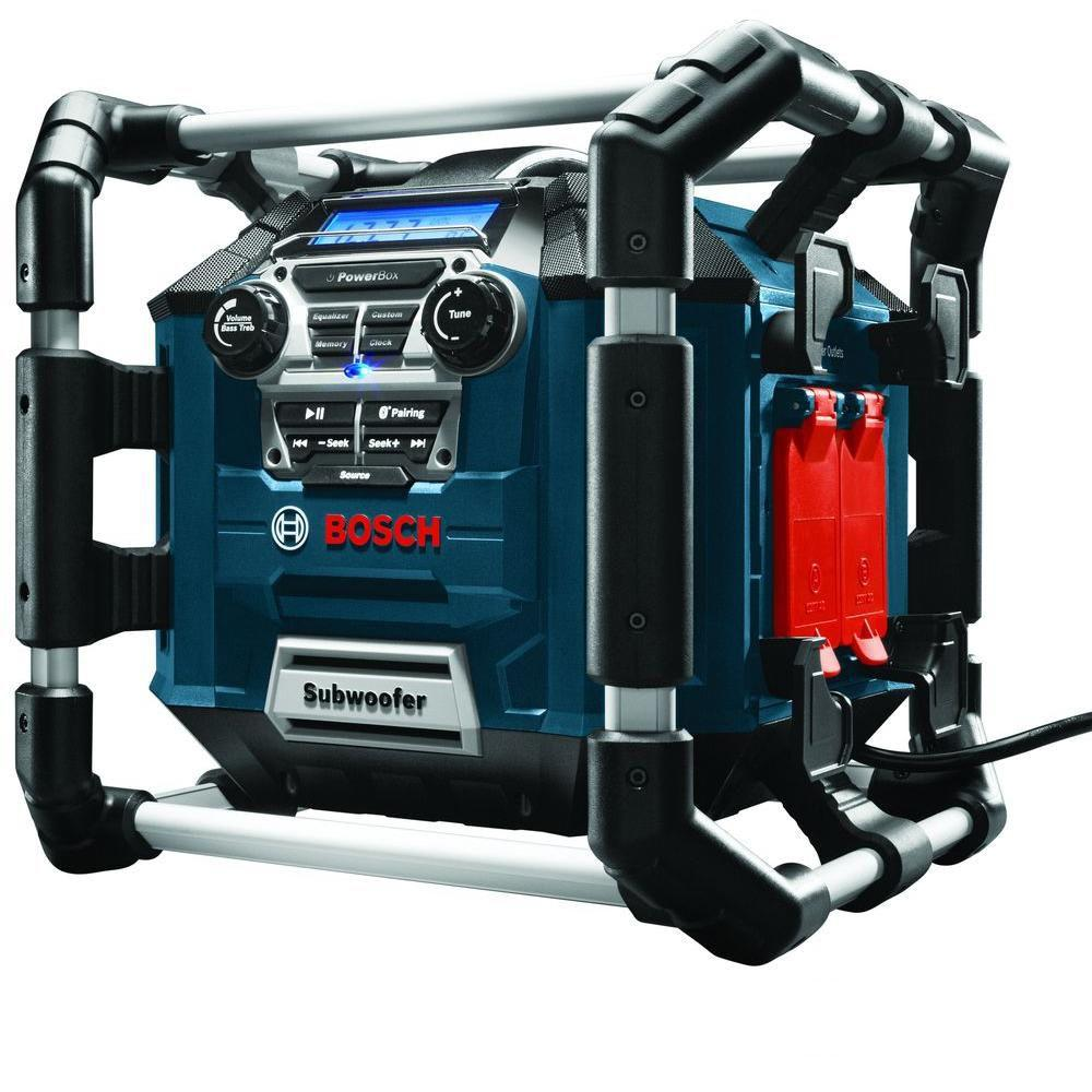 Bosch 18 Volt Lithium-Ion Cordless Power Box Jobsite Radio/Digital Media Stereo/Charger with Bluetooth and 360 Degree Sound