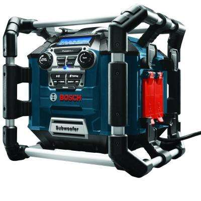 18 Volt Lithium-Ion Cordless Power Box Jobsite Radio/Digital Media Stereo/Charger with Bluetooth and 360 Degree Sound