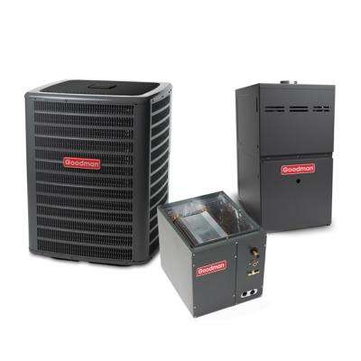 2 Ton 14.5 SEER 23600 BTU 80% AFUE 80K BTU R410A Split System Central Air Conditioning and Multi-Position Gas System