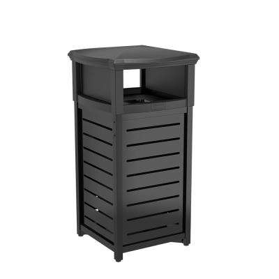 30 Gal. Thermoplastic-Coated Touchless Trash Can
