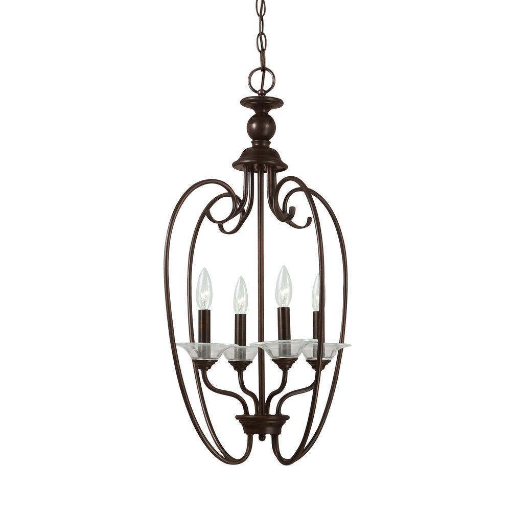 Lemont 4-Light Burnt Sienna Hall-Foyer Pendant
