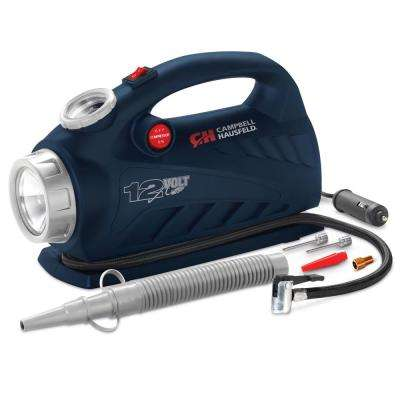 2-in-1 150 PSI Lightweight 12-Volt Portable Inflator with LED Safety Light and Inflation Accessories