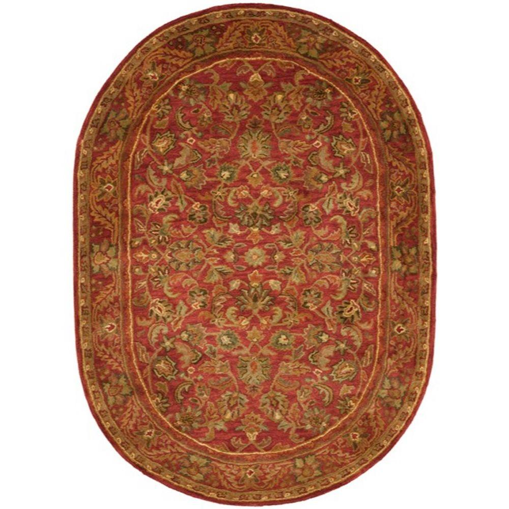Safavieh Antiquity Red 5 Ft. X 7 Ft. Oval Area Rug-AT52E
