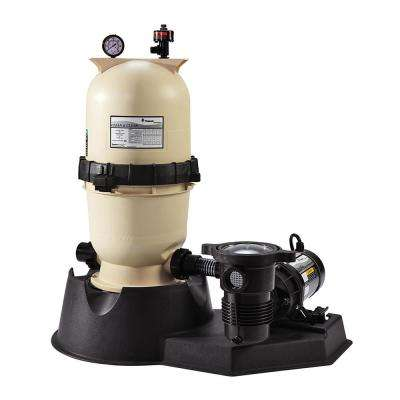 150 sq. ft. Clean and Clear Filter System with 2 HP Dual Speed OptiFlo Pump