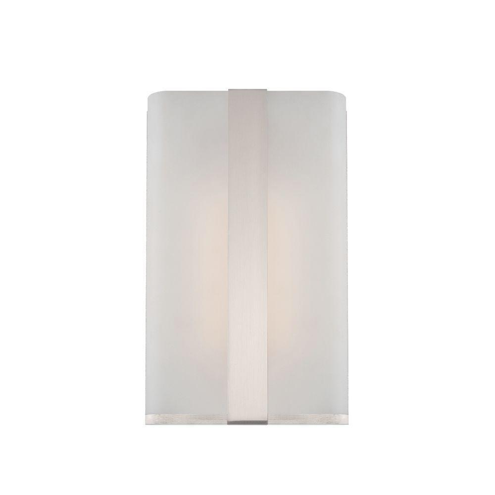 Contemporary Urban Bath Vanity Light: Designers Fountain Urban Satin Platinum Interior LED Bath Vanity Light-LED6070-SP