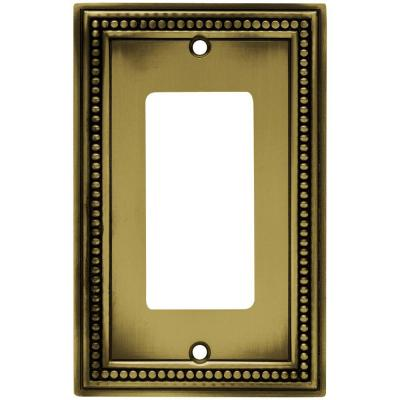 Brass 1-Gang Decorator/Rocker Wall Plate (1-Pack)
