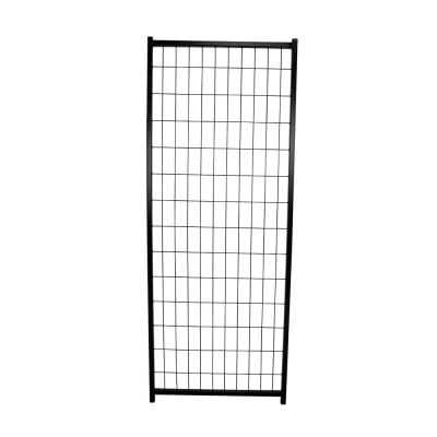 4 ft. x 4 ft. x 6 ft. and 4 ft. x 8 ft. x 6 ft. Replacement Black Metal Panel for Premium Welded Wire Kennel
