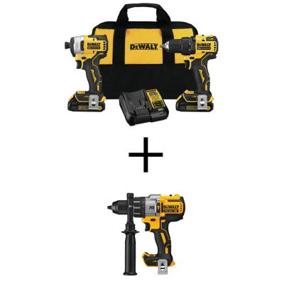 ATOMIC 20-Volt MAX Cordless Brushless Compact Drill/Impact Combo Kit (2-Tool) with 20-V 1/2 in. Hammer Drill (Tool-Only)