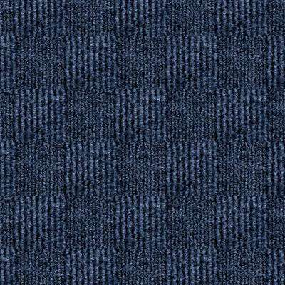 First Impressions City Block Ocean Blue Texture 24 in. x 24 in. Carpet Tile (15 Tiles/Case)