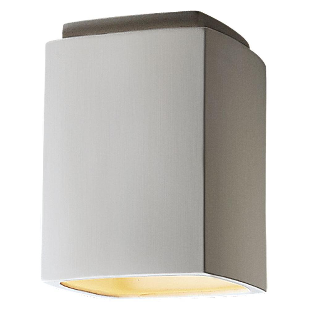 Leonidas 13 in. 1-Light Paintable Ceramic Bisque Flushmount