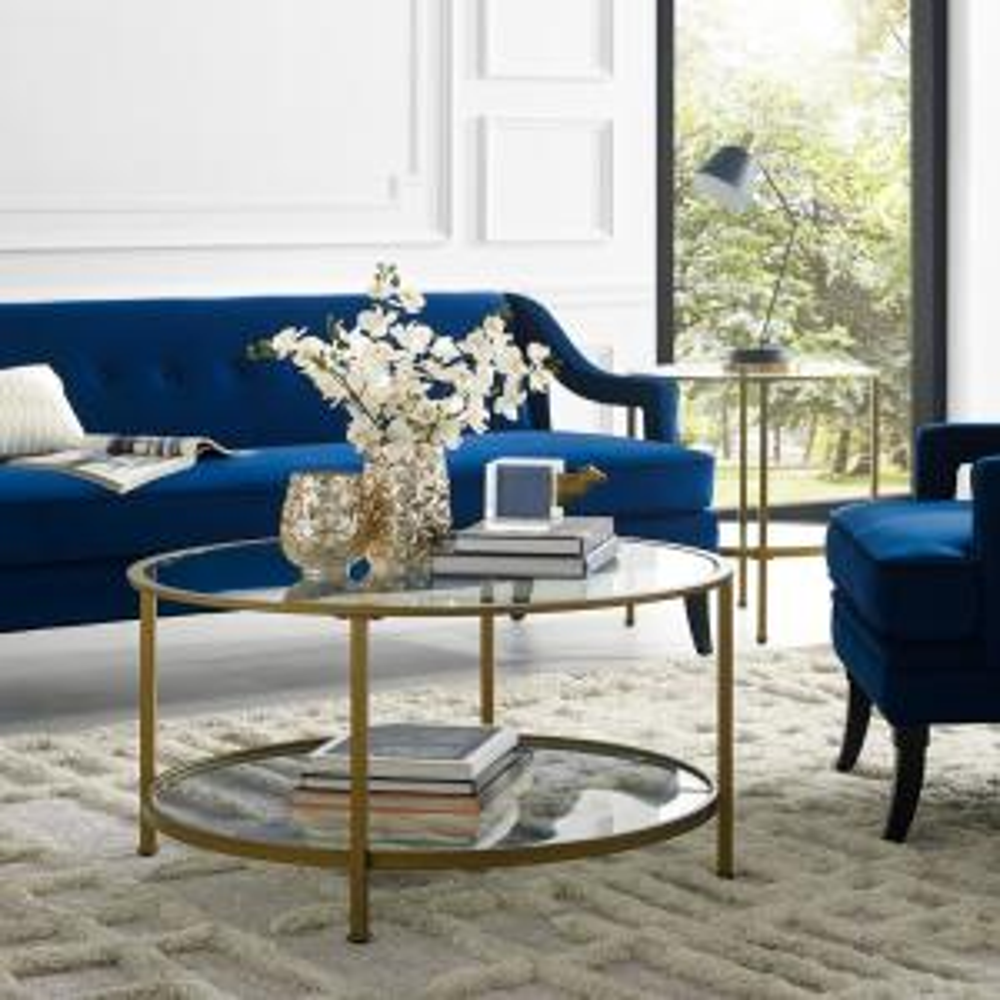 Crosley Aimee Gold Gl Coffee Table Cf1308 The Home Depot