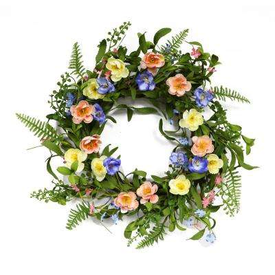 20 in. Wreath with Ranunculus's